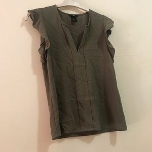 Olive green army tone blouse